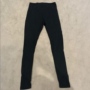 Zella High-Waisted Black Leggings with Mesh